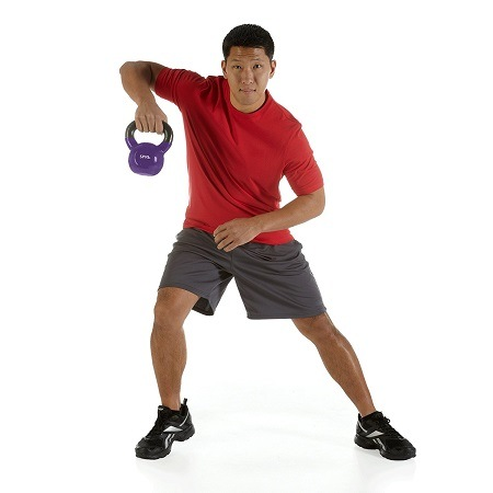 Man Workout With Kettlebell