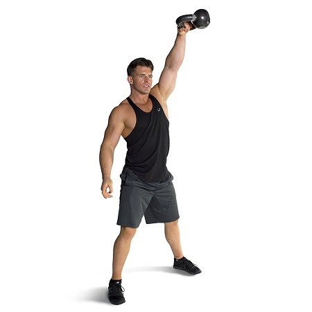 Man Exercise With Kettlebell
