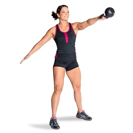 Woman Exercise With Kettlebell