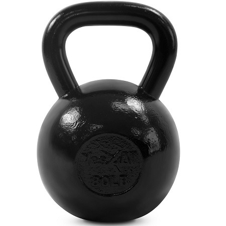 Yes4All Solid Cast Iron Kettlebell On White Background