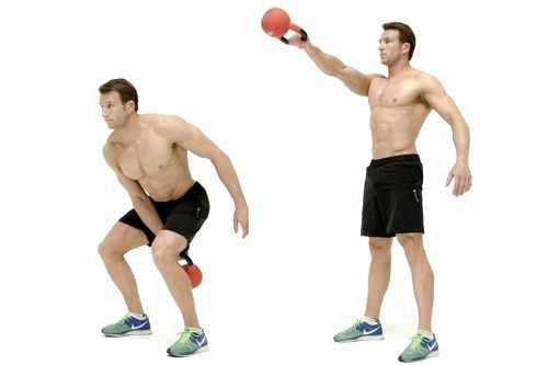 Man Doing a Single Arm Kettlebell Swing