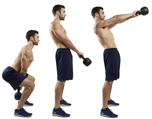 Kettle Bell Swings Excercises