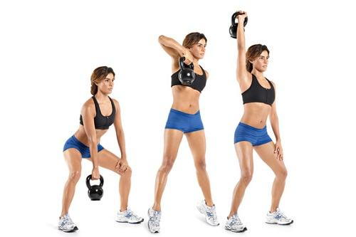 Exercising Kettlebell Snatch