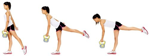 Single Leg Kettlebell Deadlift