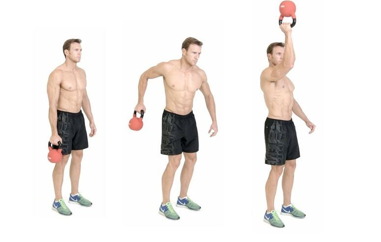 Kettlebell Bottoms Up Clean