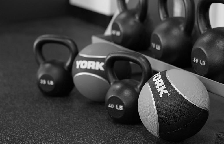 Workout Medicine Balls And Kettlebells