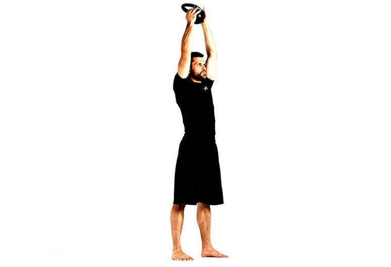 Kettlebell Curl To Press
